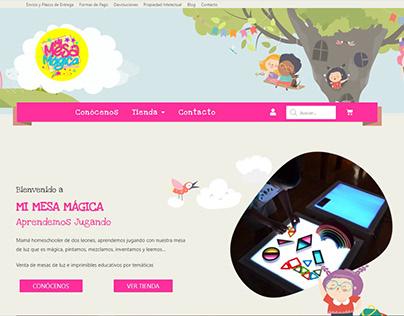 Tienda Online - Diseño Web Mi Mesa Mágica