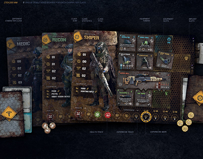 The Hunters A.D. 2114 - Board Game UI Design