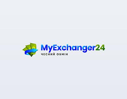Logo design for money exchange site.