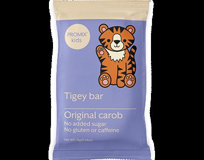 Tigey Bar Packaging Illustration