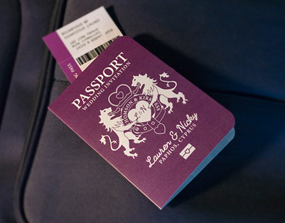 UK Style Passport Invites