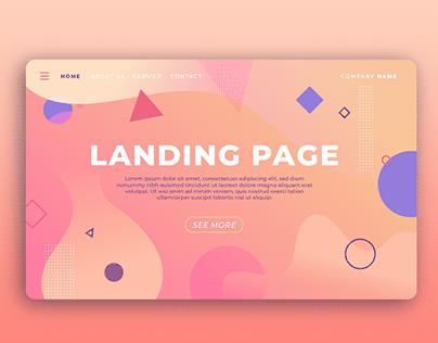 Application Landing Page
