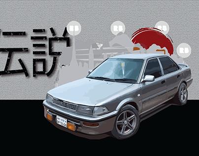 Automotive Illustration EE90