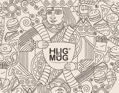 Wall graphics for Hug a mug coffee