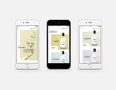 NATUROLIVE. APP MOBILE DESIGN. IOS Mobile First.