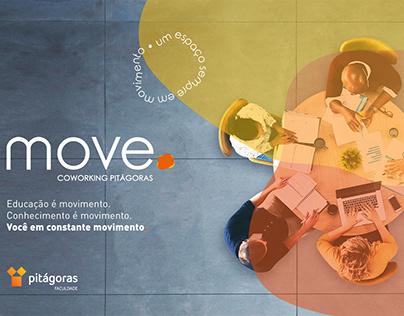 MOVE - COWORKING PITÁGORAS | naming e identidade