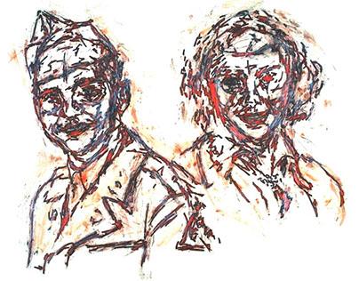 Outline Scribble Portraits