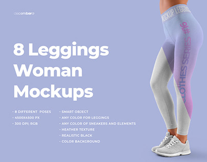8 MockUps Women Leggins (1 free)