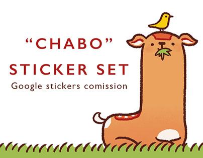 """CHABO"" STICKER SET"