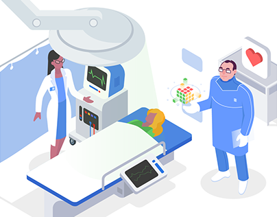Isometric Illustrations for Medical Doctor