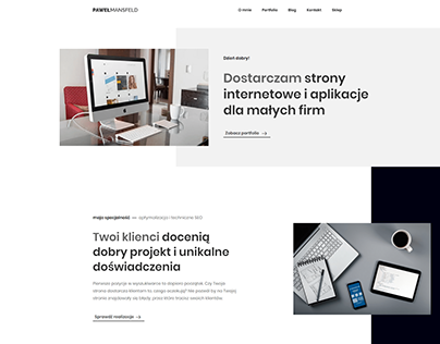 Pawel Mansfeld Home Website