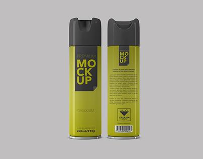 Spray Packaging Mockup - Premium