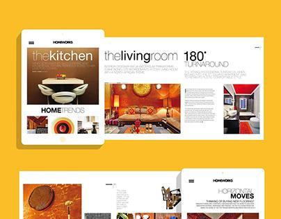 Homeworks Digital Magazine Mockup