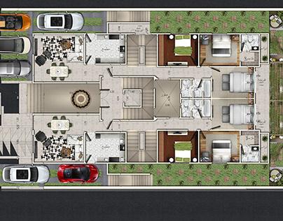 2D Floor Plan - Free PSD blocks Kit on Behance