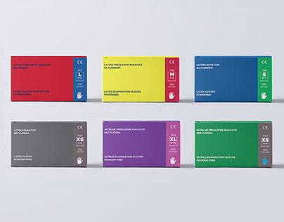Medical Gloves/ Packaging Design