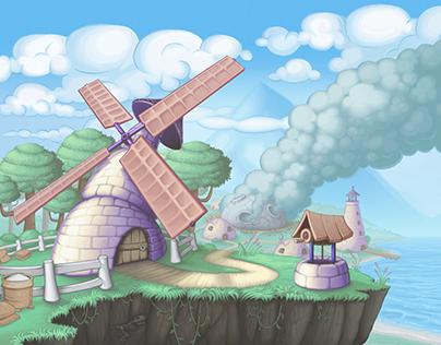 Doughlings - Level Background Illustrations