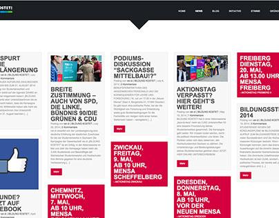 BILDUNG KOSTET Website