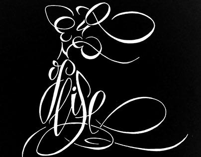 calligram - Queen of life