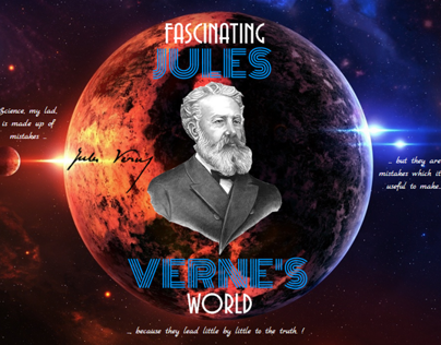 Fascinating world&work of Jules Verne-fan art website