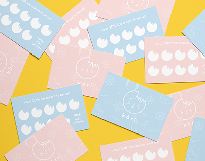 k ō r i : Ice Cream Shop Branding