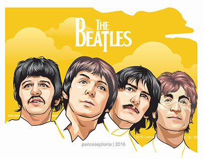The Beatles | vector potrait | by Panca Septiana | 2016