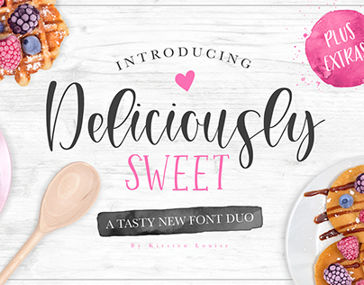 Deliciously Sweet Font Duo