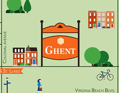 Ghent (Norfolk, Virginia) map