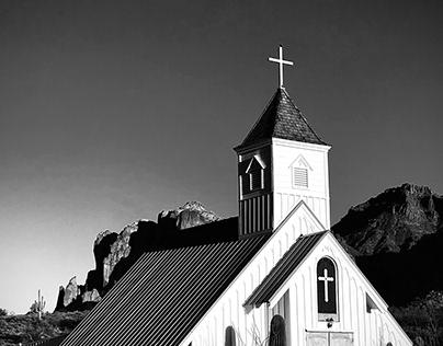 Old church on Apache Trail in AZ