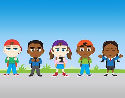 School Kids Character Design