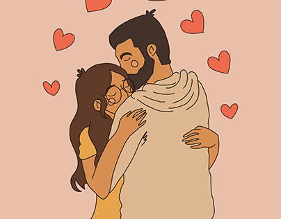 //Couple's Illustration//