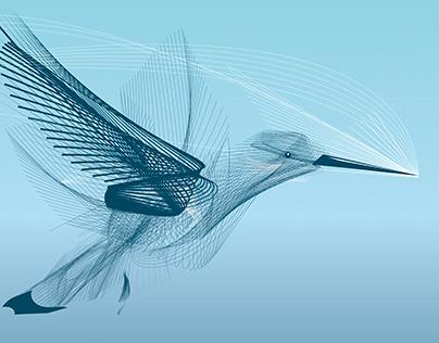 "Doodle Oiseau ""liberté"""