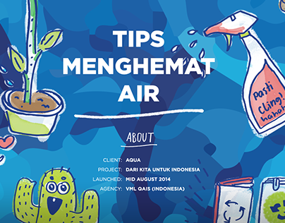 Tips Menghemat Air / Typography Doodles for AQUA
