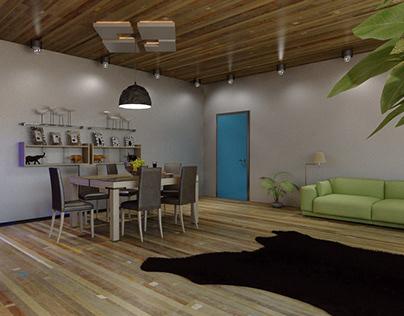 3D Living Room Project