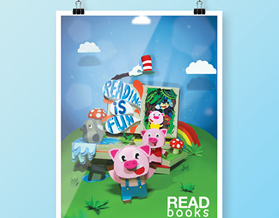 Paper Craft Poster: Tribute to Children's Books
