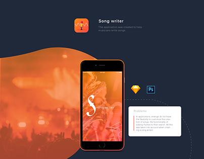 Song writer. Mobile app