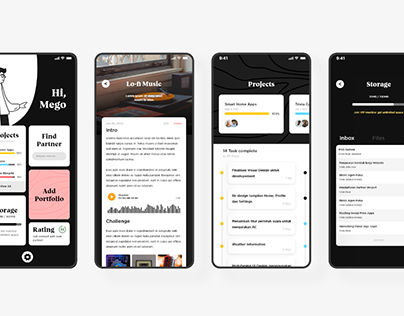 Free Collaboration Project Apps Concept UI (XD)