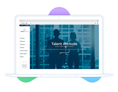 Talent Attitude - Website Webdesign UI/UX interfaces