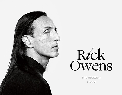 Rick Owens - website redesign