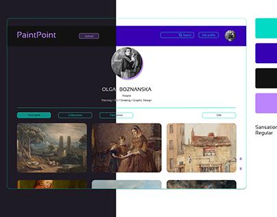 UIDaily Challenge: user profile on PaintPoint platform