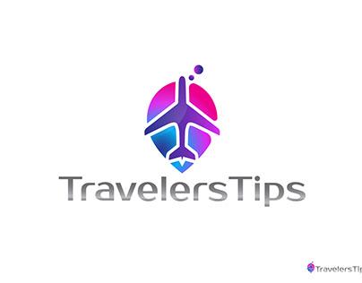 Travelers Tips Logo Design.