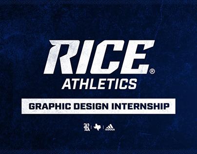 Rice Athletics Graphic Design Internship Summer 2019