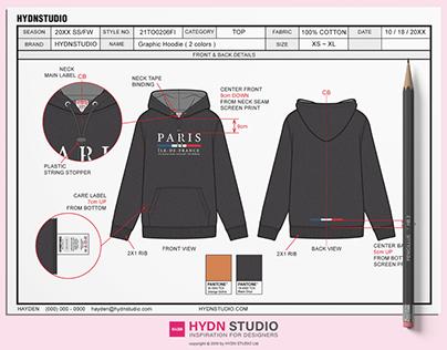 Hoodie Tech Pack Fashion Design