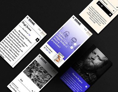 """Magazine """"Znak"""" / website"""