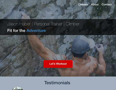 Personal Trainer Site