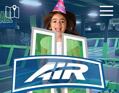 Air U Mobile Website Design