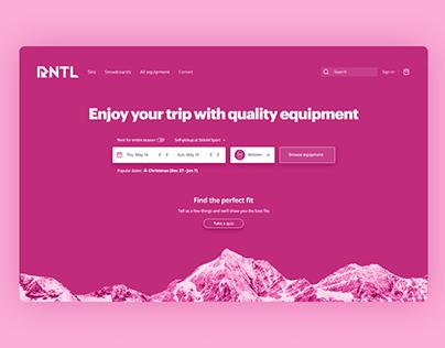 RNTL Homepage redesign