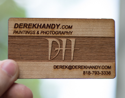 Multi-Tone Laser Engraved Wood Business Cards