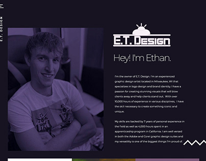 E.T. Design Website