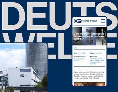 Deutsche Welle News | Website redesign