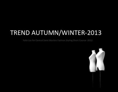 """CSM: """"Stylists, create a trend for autumn/winter-2013!"""""""